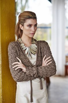 Ravelry: Jacket in Cross pattern by Linda Marveng