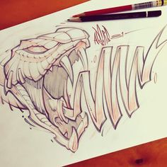 snake art Drawing Artworks is part of Best Artworks Images Snake Art Snakes Drawings - Quick lunch sketch! Snake Drawing, Snake Art, Graffiti Drawing, Graffiti Lettering, Graffiti Art, Snake Sketch, Tattoo Sketches, Tattoo Drawings, Cool Drawings