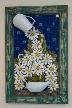 Quadro em Mosaico feito a mão na técnica picassiete.