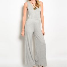REVSERVED FOR @dcallen Brand New! Sleeveless v-neck knit jumpsuit. It features a gathered waistband and wide legs. Fabric Content is 96% rayon and 4%spandex. Made in the USA. Available in S,M, and L. Please no holds, trades, or PP. Please no holds, trades or PP. Price is FIRM  unless bundled. PLEASE DO NOT PURCHASE THIS LISTING. I'LL CREATE A NEW ONE FOR YOU. PLEASE NOTE ALL CLOTHING ITEMS COME STRAIGHT FROM MY VENDOR. They are packaged in 6 and I separate them when they are sold. Thank you…