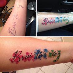 BORN THIS WAY ✌️ 1st Tattoo