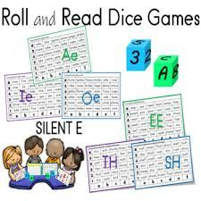 Roll and Read Short Vowels and Long Vowels Dice Games | TpT Teaching Phonics, Teaching Writing, Reading Fluency, Reading Strategies, First Grade Lessons, Small Group Activities, Short Vowels, Dice Games, Common Core Math