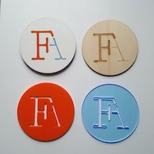 branded coasters made of wood and acrylic #lasercutforbusiness #engraving #woodencraft #brand #branding #logo #creativity