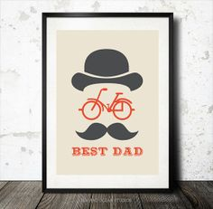 """Father Print """"Best Dad"""" Downloadable Art Print"""