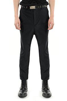 Virgin Blak Mens Slim Tapered Stretch Pinstripe Pants Black 31 (Kor M) Mens Dress Pants, Men Dress, Pinstripe Pants, Slim Man, Black Pants, Suits, Dresses, Fashion, Black Slacks