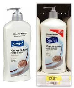 Suave Body Lotion, Only $0.87 at Walmart and $0.89 at Target!