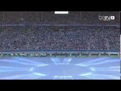 لوحات فنية جميلة تزين الملعب الأولمبي في برلين 2015 لنهائي دوري الابطال
