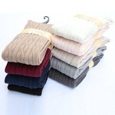 新しい女性ウール編み込みオーバーニーソックス太ももの高値ホースストッキングツイスト暖かい冬