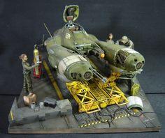 Falke in Maintenance. A 1/20 scale diorama made by Fernando