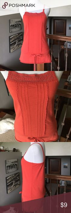 """Rip Curl Tank Top Size Small 2/4 NWOT NWOT Super soft cotton. 17""""L from underarm. Perfect tank to pair w/ shorts, skorts, skinnies! Pretty tangerine. Tag Size Small 2/4. Mannequin size Small 2/4. Rip Curl Tops Tank Tops"""