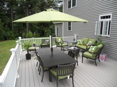 Awesome grey and white deck....