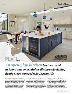 Our planning feature this month will help you to create the perfect open-plan kitchen space.