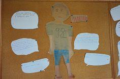 """Dziś pomysł na zebranie informacji o bohaterach lektury i przygotowanie do pisania charakterystyki. Klasa 6 pracowała z """"Tym obcym"""" I... Cos"""