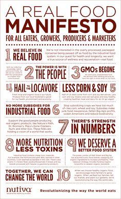 A Real Food Manifesto - @Nutiva