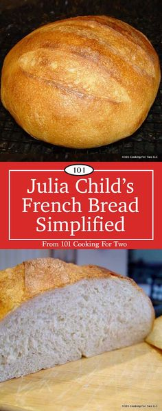 Julia Childs French Bread is the ultimate in Artist Breads. A wonderful loaf, simplified to the essentials to get it done with less fuss. While speed was not a goal, it was a total of 5 hours from start to the cooling rack. Bread Recipes, Baking Recipes, Baking Stone, Cooking For Two, Cooking Tips, Bread Rolls, Julia Childs, Tortillas, Bon Appetit