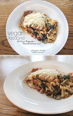 "vegan veggie lasagna  **When we first went vegan, I really liked the ""fake"" cheese.  Now that I have been plant based for awhile, it no longer rocks my socks.  The lasagna is AWESOME and I will probably make it again for the family, they all enjoyed it**"