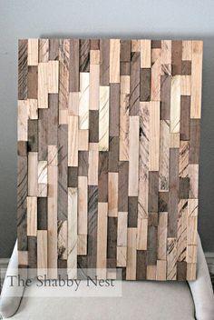 Pretty DIY wood scrap art!