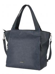 Damenhandtasche Lichtblau Galini dunkelblau Shopper Zipper - Bags & more Shopper, Gym Bag, Bags, Fashion, Artificial Leather, Dark Blue, Handbags, Moda, Fashion Styles