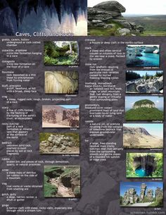 useful geographical descriptions for writers: part 4 - caves, cliffs, and rocks #writingtips