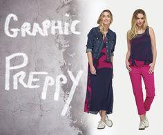 Look Graphic Preppy - Rose