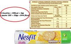valor nutricional de bolachas recheadas/ rótulos