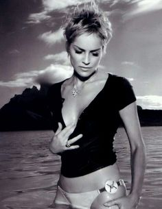 Sharon Stone. Love here hair as well as her