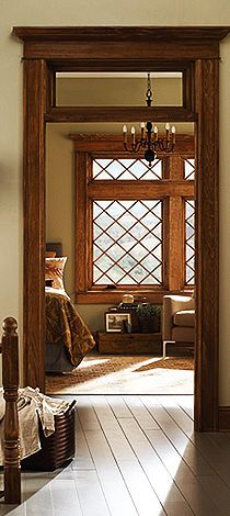 Tudor - Features rectangular or diamond-shaped window grilles - often together in the same house.