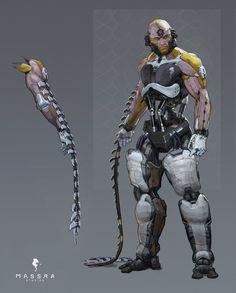 Augmented - by Hunter Schulz Cyberpunk Kunst, Cyberpunk 2020, Armor Concept, Concept Art, Nail Bat, Character Concept, Character Art, Science Fiction, Space Opera