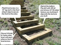 Stairs built into a hillside
