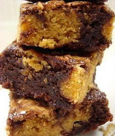 brownies eats recipes forward triple decker peanut butter brownies ...