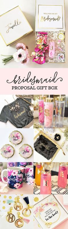Bridesmaid Proposal Gift Box Ideas | Will you be my Bridesmaid Gift Ideas by weddingfavorites