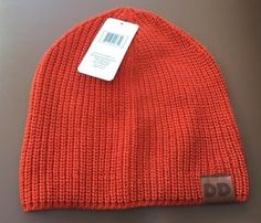 40510d91e81 Dunkin Donuts Beanie DD Logo One Size Fits Most Orange Coffee Hat Clothing