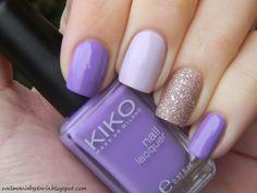 Lilac mix&match nail art