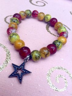 Red orange and yellow fire themed three toned by HarxieXbracelets