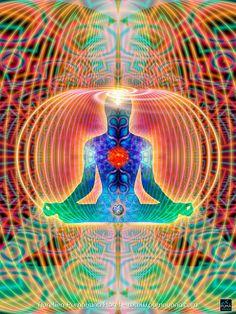 HYPERSPACE Cosmic Body -Spiritual Art, Visionary, Shamanic, Sacred Geometry, Entheogenic Art by Pumayana <3