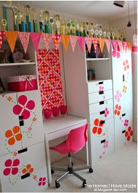The Homes I Have Made: a raspberry sherbet Tween Bedroom Makeover!