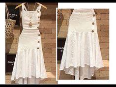 Fashion Tips For Women, Womens Fashion, Fashion Sewing, Fashion 2020, Dress Skirt, Designer Dresses, Fashion Dresses, White Dress, Wedding Dresses