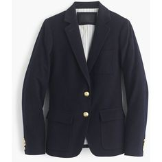 J.Crew Collection Rhodes Blazer ($1,165) ❤ liked on Polyvore featuring outerwear, jackets, blazers, tailored blazer, j.crew, pocket jacket, slim blazer and evening jacket