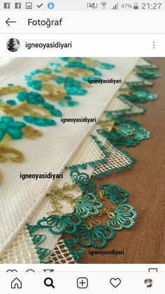 What about the beauty of my good morning? Information and si … – Hair World G Eazy, Thread Art, Needle And Thread, Embroidery Jewelry, Hand Embroidery, Saree Tassels, Knit Shoes, Needle Lace, Lace Making