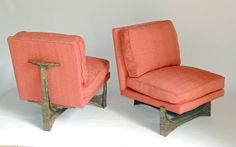Pair of Rare Paul Evans Lounge Chairs. Ca 1970s. Sold for $33,000! www.briggsauction.com