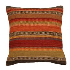 Set off your room with this Ooty Stripe Wool Kilim Cushion. In deep rich colours, these are traditionally hand made and incredibly hard wearing. Fair Trade.
