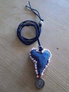 fabric Crochet Necklace, Fabric, Blue, Jewelry, Art, Fashion, Tejido, Art Background, Moda