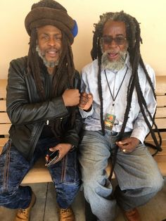 Natty Dreads Congo Bongo - David Hindes & Halfpint sitting together.