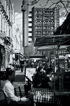 """Inspiring Localism"", Portobello Road Market, Notting Hill, London, UK. Image by David Gutierrez #Photography, #London #Photographer. #Art #UK #City #Urban #Monochrome #Londra #Londyn  #Building    #ロンドン #伦敦 #런던 #лондон #Londres #Blackandwhite #Portobello #England http://www.davidgutierrez.co.uk/"