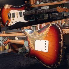 """1,330 To se mi líbí, 38 komentářů – Dale Wilson (@dwilson_fender) na Instagramu: """"59 Stratocaster Heavy Relic. Built for Gitarren Studio Neustadt @gsn_pics. Thanks again Karl!…"""""""