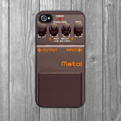 iPhone Case Guitar Pedal Grey Hardshell by CrankCases on Etsy, $17.99