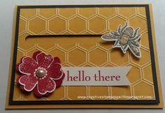 Honeybee Spinner Card using Stampin' Up! Backyard Basics Stamp Set