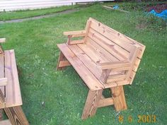 Picnic Table Bench Combo Plan