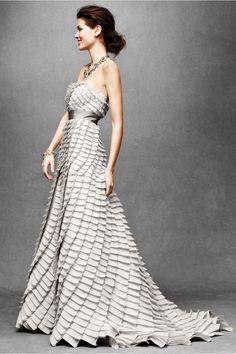bhldn-plissado-vestido de casamento