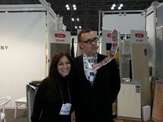 Our own Sheri Gorman withAlexander Lynx who wears a different tie everyday. At BDNY 2013